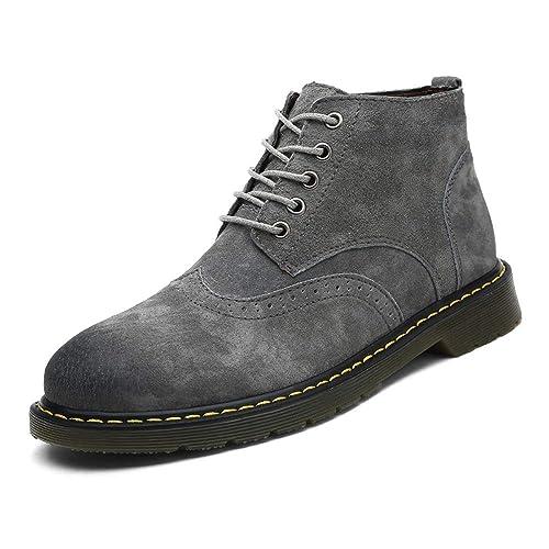 Apragaz Botines,Botas de Clima Frío para Hombres Aisladas Botas de Nieve A Prueba De Agua Bota de Senderismo de Cuero de Gamuza: Amazon.es: Zapatos y ...