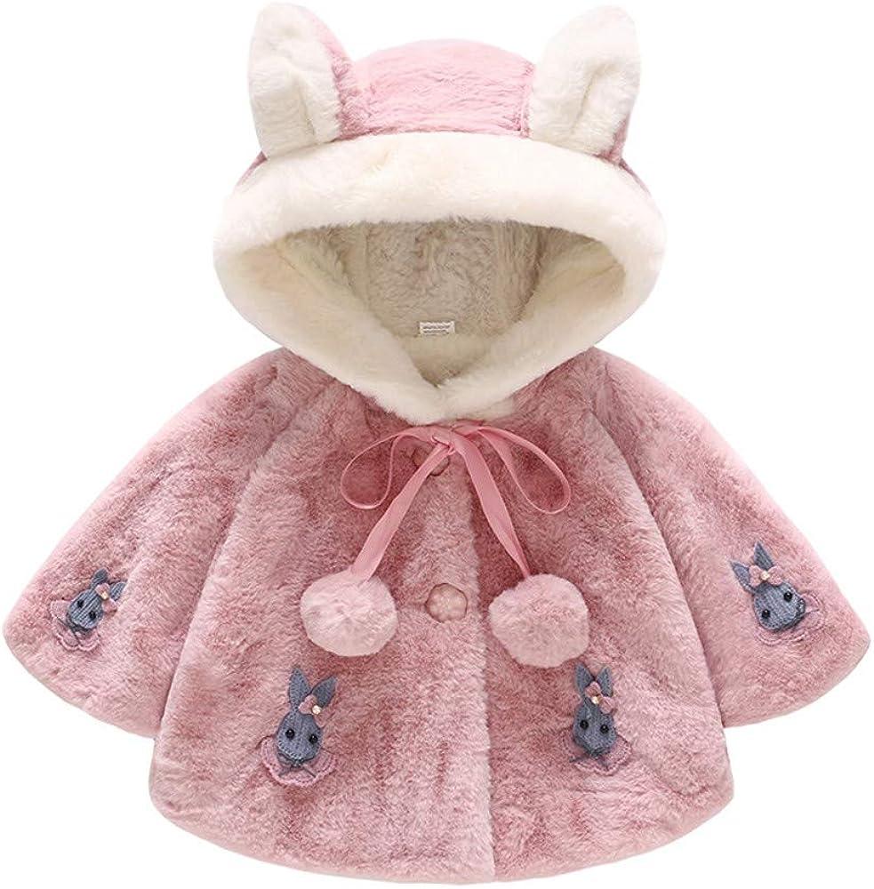Giacche Bambino Invernali Coniglio Cappuccio,Homebaby Giacca del Mantello del Cappotto di Inverno...