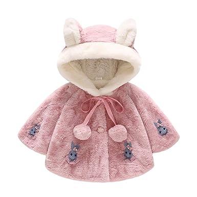 Longra Baby Jacke Mädchen Winterjacke Langarm Kaninchen