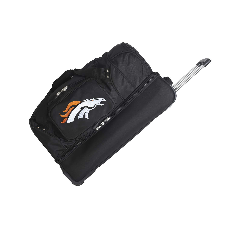 NFL Denver Broncos Rolling Drop-Bottom Duffel Bag, 27-inches