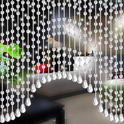 Pendants-Clear Teardrop Chandelier Crystal Pendants Glass Pendants Beads Pack of 20 (38mm, Clear)