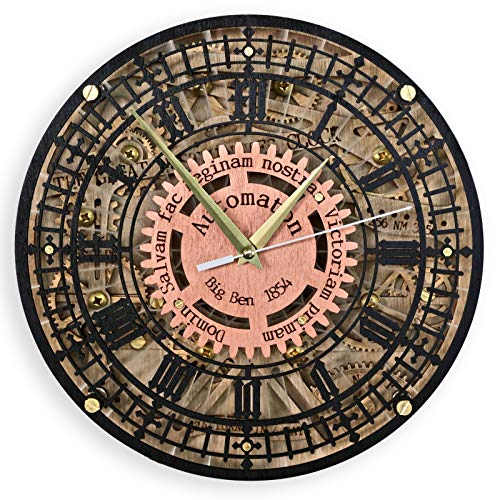 Cheap Big Ben Automaton 1854 Unique Vintage large wooden wall Clock, housewarming, one-of-a-kind, victorian home decor gift