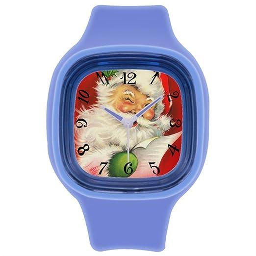 Correa de piel Para Hombre Original Original Vintage feliz Navidad comprar Reloj de pulsera: Amazon.es: Relojes