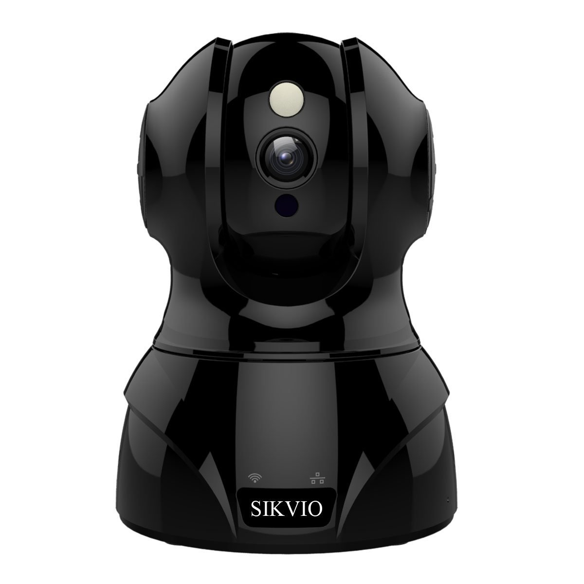 SIKVIO WiFi Home Security Surveillance IP Camera HD 1536P&1080P with Sound & Motion Detection Motion Tracker Two-Way Audio Night Vision Work with Alexa - Free Cloud, Black by SIKVIO