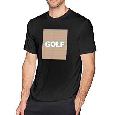 b491c3fe29a2 Amazon.com  Mens Golf Wang Tyler The Creator Rap Short Sleeve Round Neck  Tshirts  Clothing