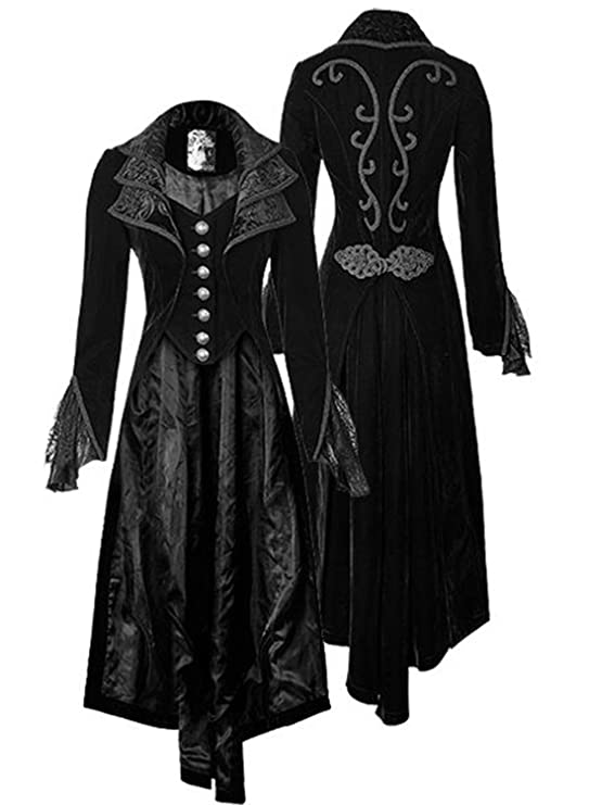 Steampunk Costume Essentials for Women Womens Steampunk Gothic Vintage Jacket Victorian Tailcoat Long Trench Coat Jacket Halloween Costume $46.99 AT vintagedancer.com