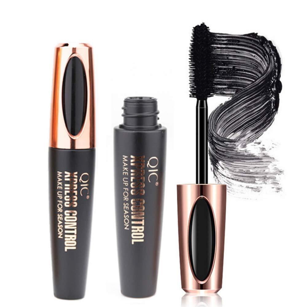 LiPing 4D Fiber Mascara Long Black Lash Eyelash Extension Waterproof Eye Makeup Tool for Individual Eyelash Extension Supply (A)