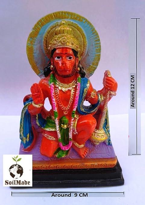 buy red hanuman ji idol 100 original and very rare by make in