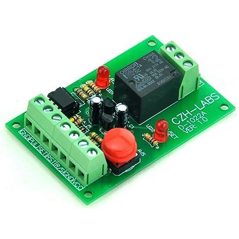Electronics-Salon /à montage sur Panneau pour commutateur dallumage temporaire Pulse-commande du Signal SPDT Module de relais de verrouillage 5 V