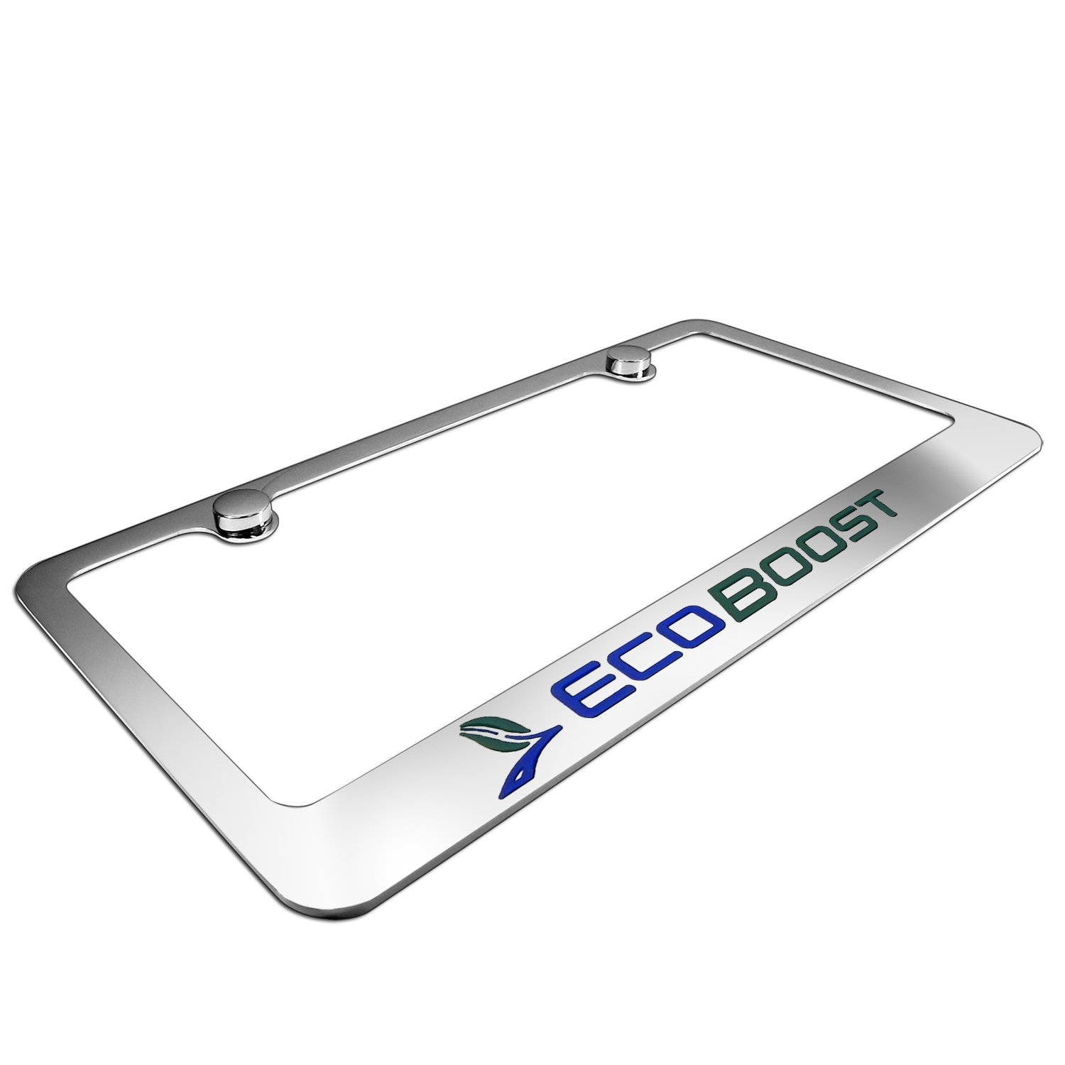 Ford Eco Boost Chrome Metal License Frame