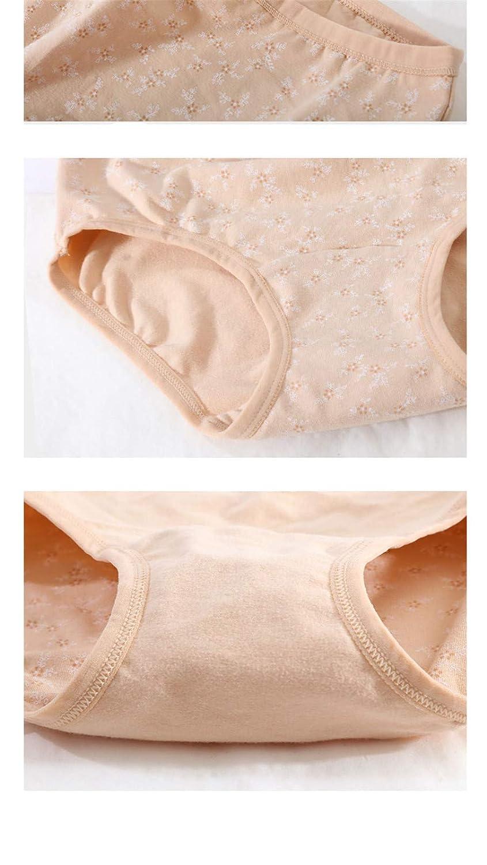 yutu 4 Cargado, Ropa Interior de Las Mujeres, Ropa Interior de Gran tamaño del algodón, Pantalones Inferiores del triángulo Respirables y cómodos, ...