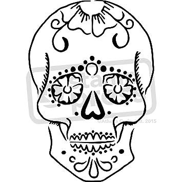 Amazon a5 sugar skull wall stencil template ws00004290 a5 sugar skull wall stencil template ws00004290 pronofoot35fo Images