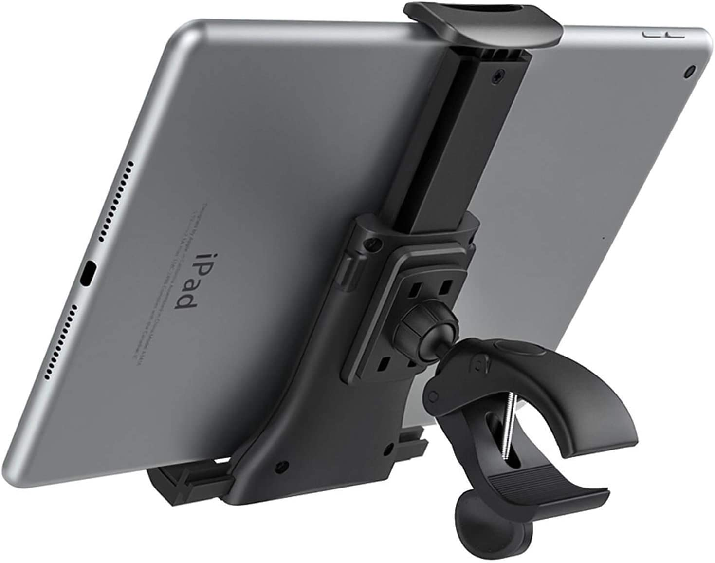 MoKo Soporte en Manija de Bicicleta, para Móvil y Tableta 4-11 Pulgadas, Adecuado Bicicleta Ciclismo Interior, Gimnasio, Cinta de Correr, Adecuado para iPhone, iPad Pro, Air 4, Mini 5, Tab S6, Negro