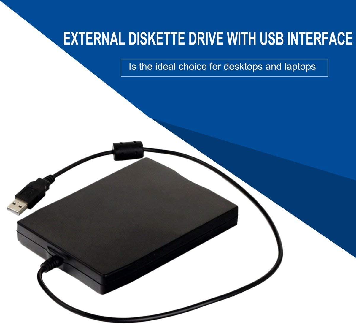 Hanmarigold 3,5 Zoll 1,44 MB FDD Schwarz USB Tragbare Externe ...