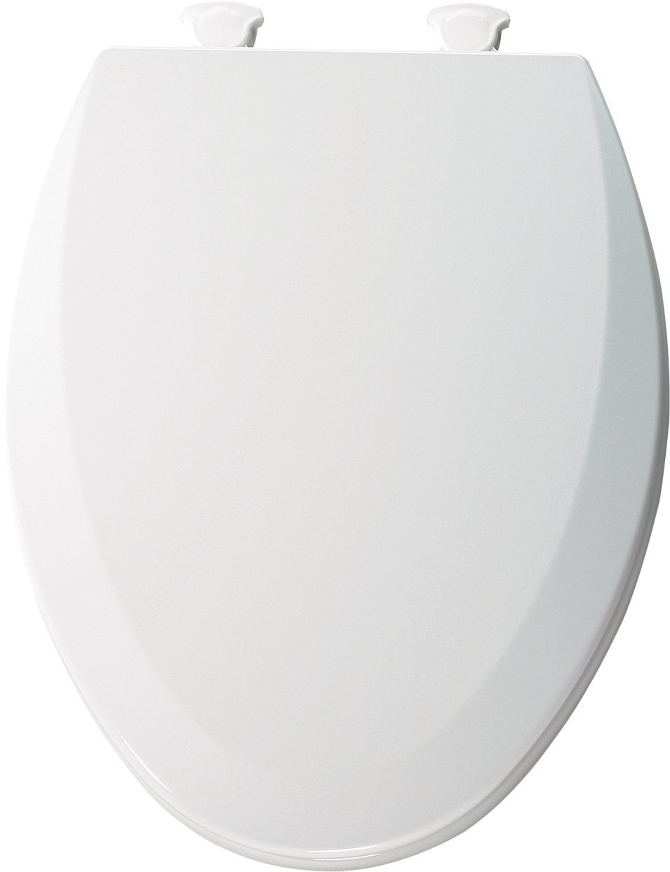 Bemis 1500EC162 Molded Wood Elongated Toilet Seat With Easy Clean and Change Hinge Silver