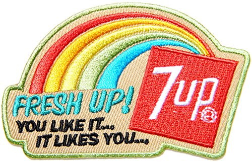 HOME PATCHMORES 7up Fresh Up Soda Soft Drink Advertising Logo Jacket T-Shirt Patch Sew Iron on Embroidered Sign Badge Costume Clothing ()