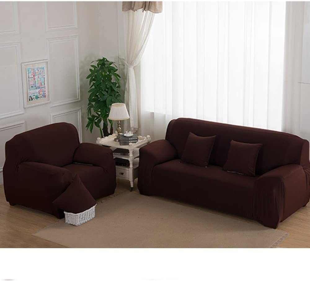 Stretch Seat Chair Covers Couch Slipcover Sofa Loveseat Cover 9 Colors/4 for 1 2 3 4 Four People Sofa + 1 Pillowcase (74