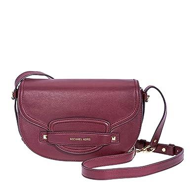 9cc073a71715 Michael Kors Cary Medium Saddle Bag- Oxblood  Handbags  Amazon.com