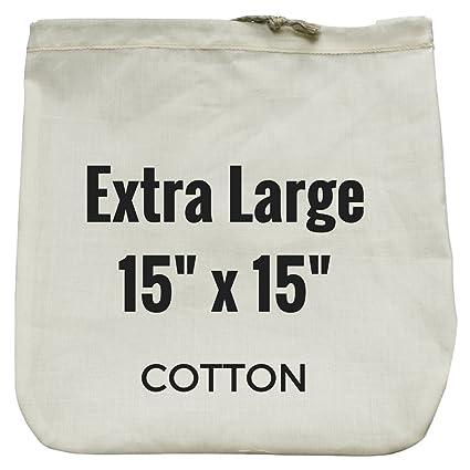 "Bolsa extralarga de leche de nueces - 15 ""x 15"" - Colador reutilizable"