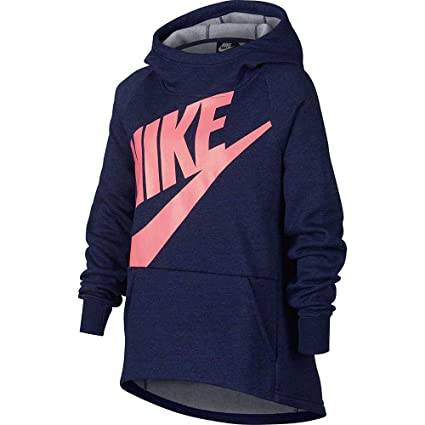 Nike G NSW Hoodie PO PE Sudadera, Niñas, Azul (htr/Blue Void