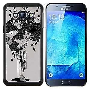 LECELL--Funda protectora / Cubierta / Piel For Samsung Galaxy A8 A8000 -- La bolsa de trucos --
