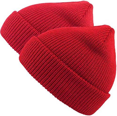2pack Black//Royal Blue MaxNova Slouchy Beanie Hats Winter Knitted Caps Soft Warm Ski Hat Unisex