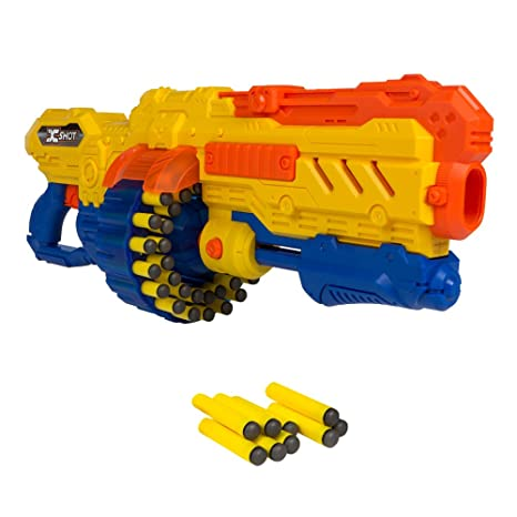 X-Shot - Pistola Turbo Advance con cargador 40 dardos y 96 dardos gomaespuma (