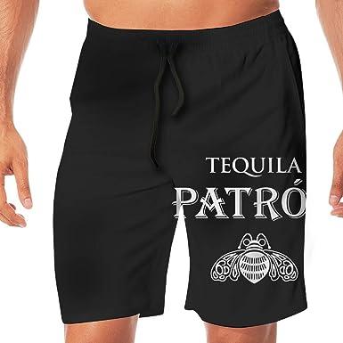 1836 Patron Tequila Logo Mens Beach Pants Swim Trunks Quick Dry Beachwear Sports Running Swim Board Shorts