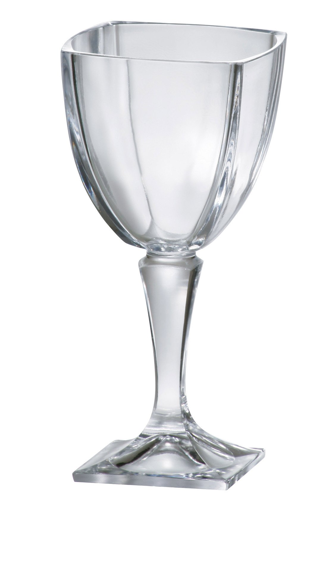 Barski Glass - Lead Free - Beautiful Square Footed Crystalline - Water - Wine Goblet - 10.5 oz. - Made in Europe - Set of 6 by Barski
