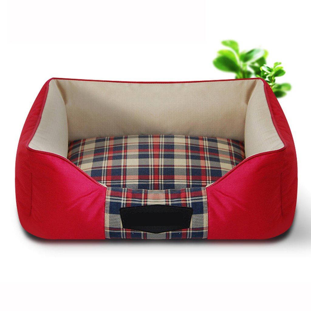 Red Small Red Small Dogs Beds Furniture Bed Blankets Dogs Beds PET's Cushions Mats Soft Sofas or Chairs Multi-Size Options S M L XL (color   Red, Size   S)