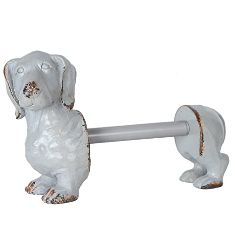 Dachshund Paper Towel Holder Cool Creative CoOp DA60 Antiqued Bronze Dachshund Dog Paper Towel Holder