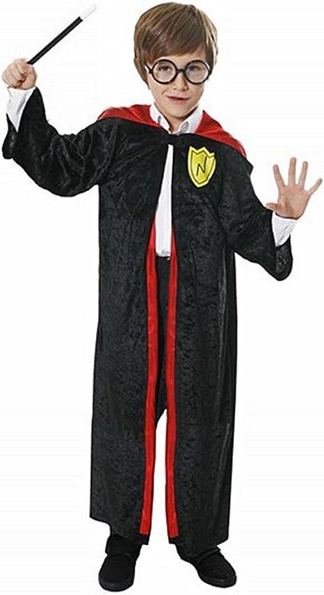 Infantil Mago Chico Harry Potter Disfraz Con Vidrios Y Varita 4-12 ...