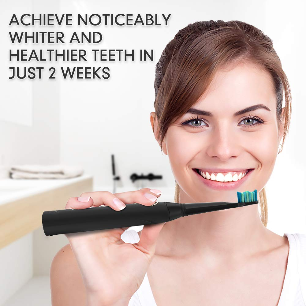 Sonic Rechargeable Electric Toothbrush for Adults 5 Modes with 2 Mins Build in Timer Dentists