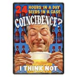 Rivers Edge Products 24 Hours in a Day Tin Sign Wall Art
