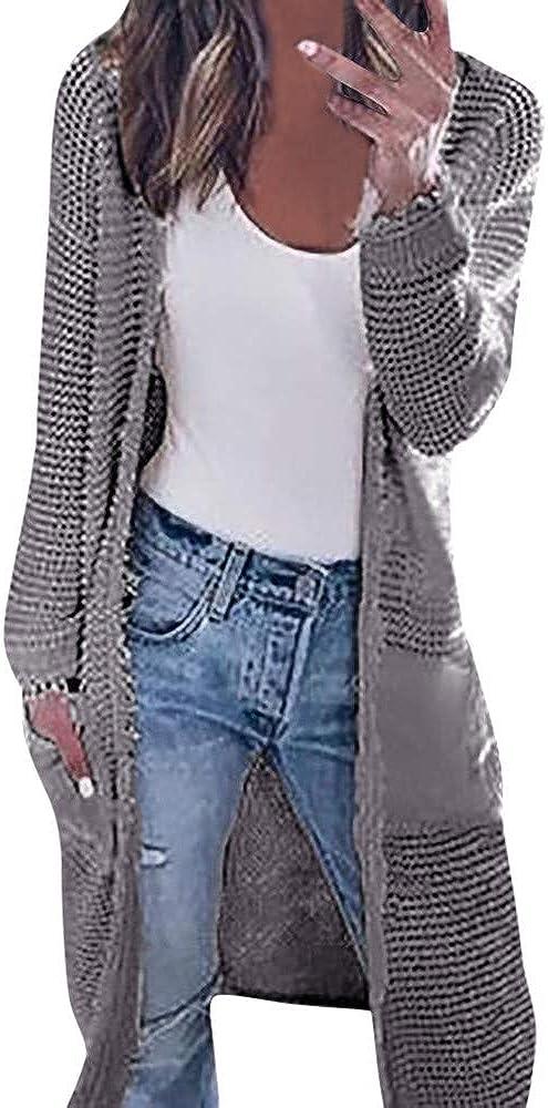 POLP Abrigos mujer Primavera Abrigo de Invierno de Mujer Mujer Casual Lana De Punto Cárdigan Calentar Chaqueta Encapuchado Abrigos Chaqueta de Punto Cárdigan Chaqueta Punto para Mujer