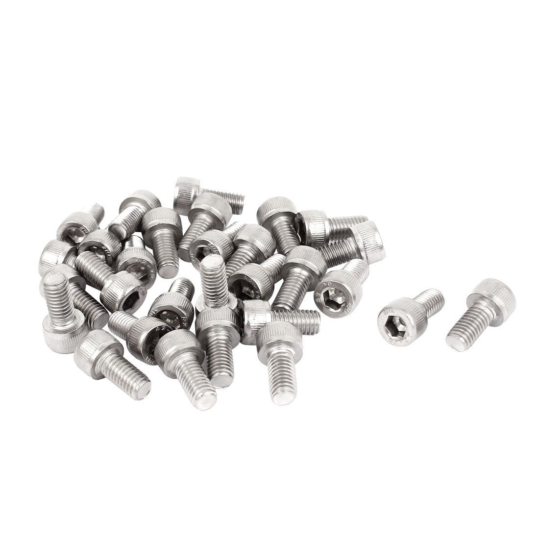 uxcell 0.8mm Pitch M5x10mm Stainless Steel Hex Socket Head Cap Screws 30 Pcs a15040700ux0238