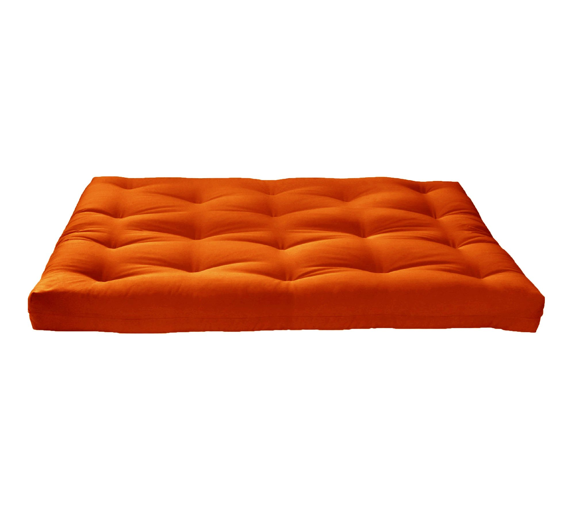 Artiva USA Home Deluxe 8'' Futon Sofa Mattress Made in US Best Quality, Solid, Full, Orange by Artiva USA