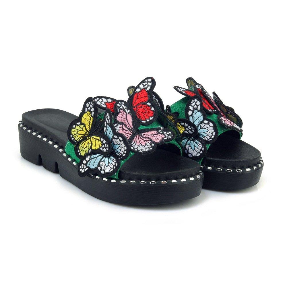 Sandales décontractées pour 19997 Femmes, Chaussures à Vert Talons, Pantoufles Femmes, Vert 6042a55 - latesttechnology.space
