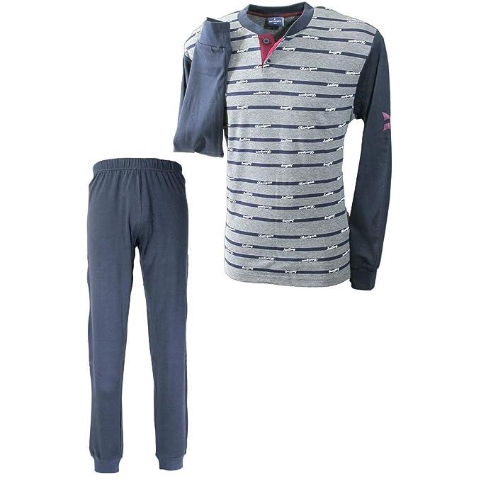 74a955444015 Navigare Pigiama Uomo S/46-M/48-L/50-XL/52-XXL/54 Caldo Cotone Interlock  140688: Amazon.it: Abbigliamento