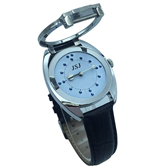 Amazon.com: Stainless steel tactile watch for blind people-battery operated(elastic strap, blue): Sports & Outdoors