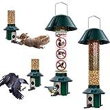 Roamwild Squirrel proof Bird Feeders - 1 x Mixed Seed Bird Feeder & 1 x Peanut/Suet Pellet Bird Feeder - 100% Pest Proof