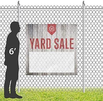 Yard Sale 8x8 Nautical Wood Wind-Resistant Outdoor Mesh Vinyl Banner CGSignLab