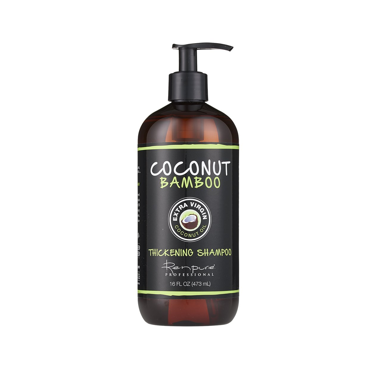 RENPURE Professional Coconut Bamboo Thickening Shampoo 16 Ounce