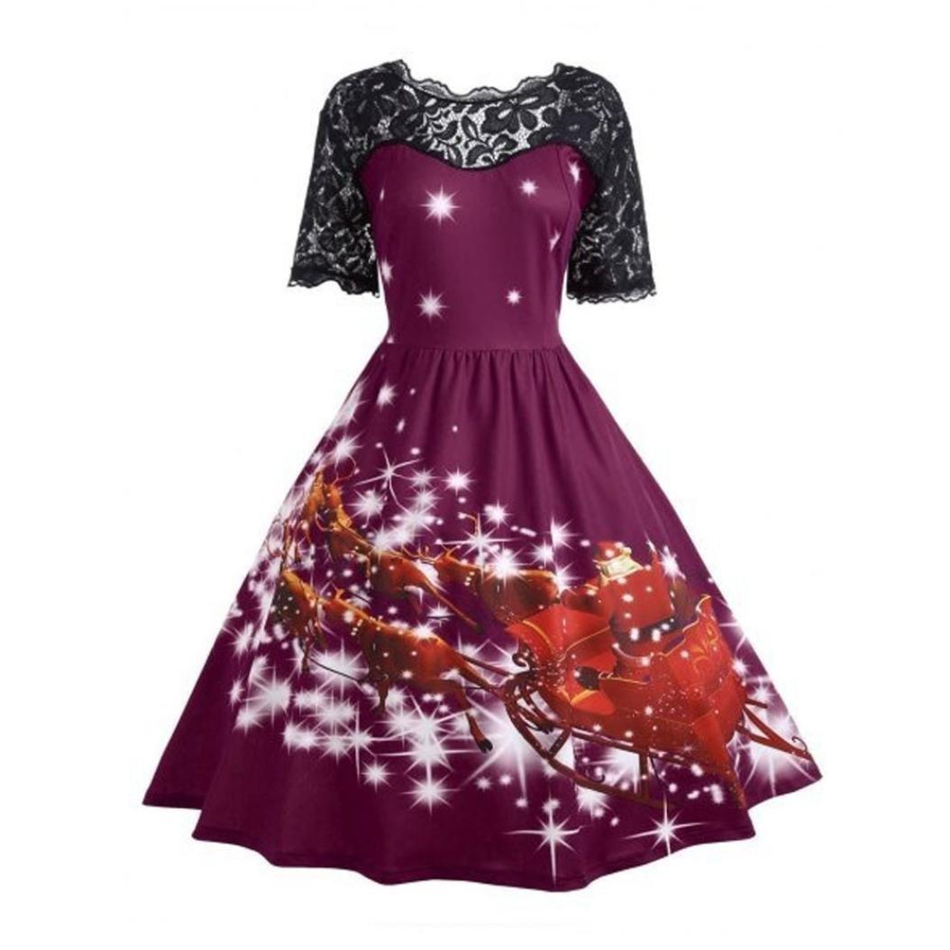 Kleider , Frashing Frauen Weihnachten Kleid Damen Rockabilly Kleid ...