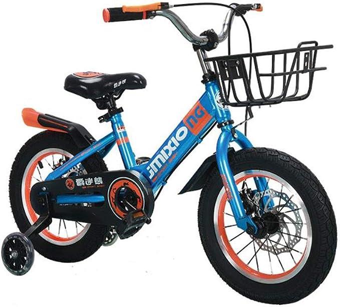"""KY Bicicleta niños Balance Bike Bicicleta niño de 3-10 años, Ajustable niños Formación de Bicicletas con Ruedas de Flash Auxiliar, en tamaño 14"""" 16"""" 18"""" (Color : Blue, Size : 18 Inch): Amazon.es: Deportes y aire libre"""