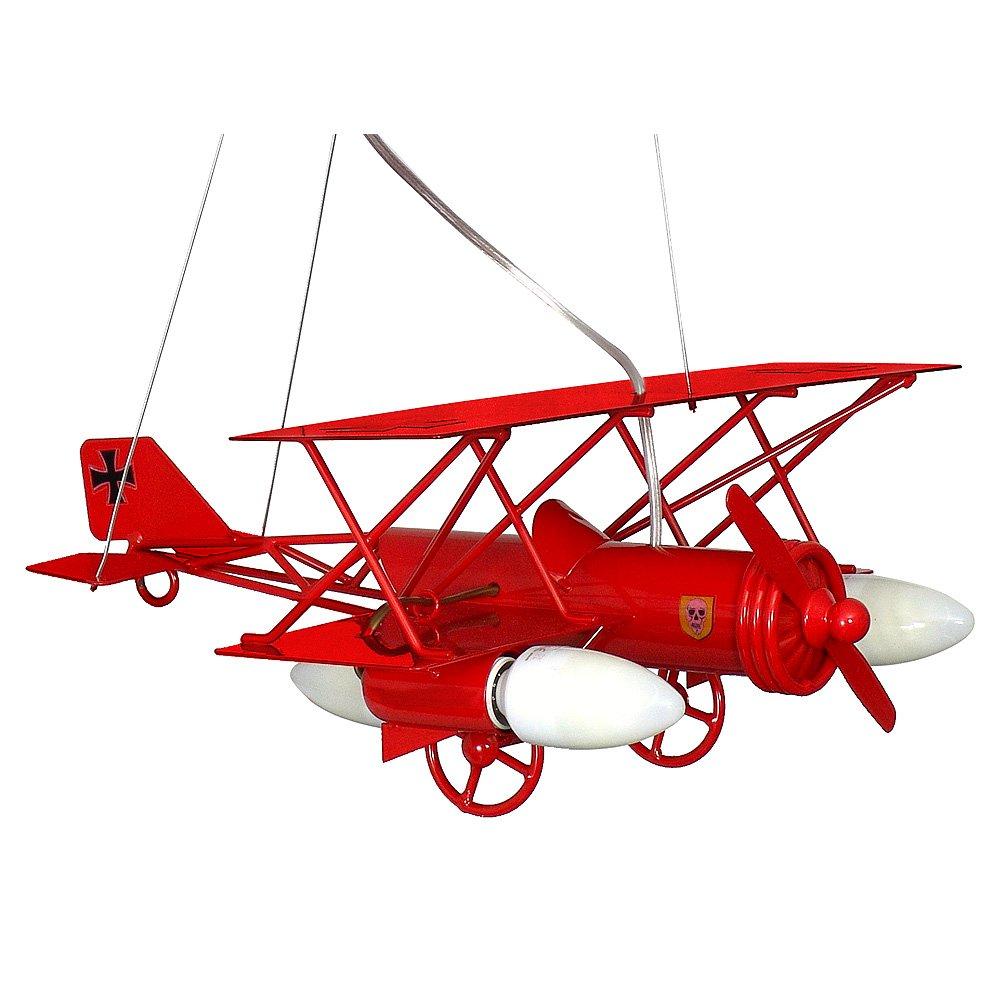 SAMOLOT / Flugzeug Rot Kinderzimmerleuchte Kinderzimmerlampe ...