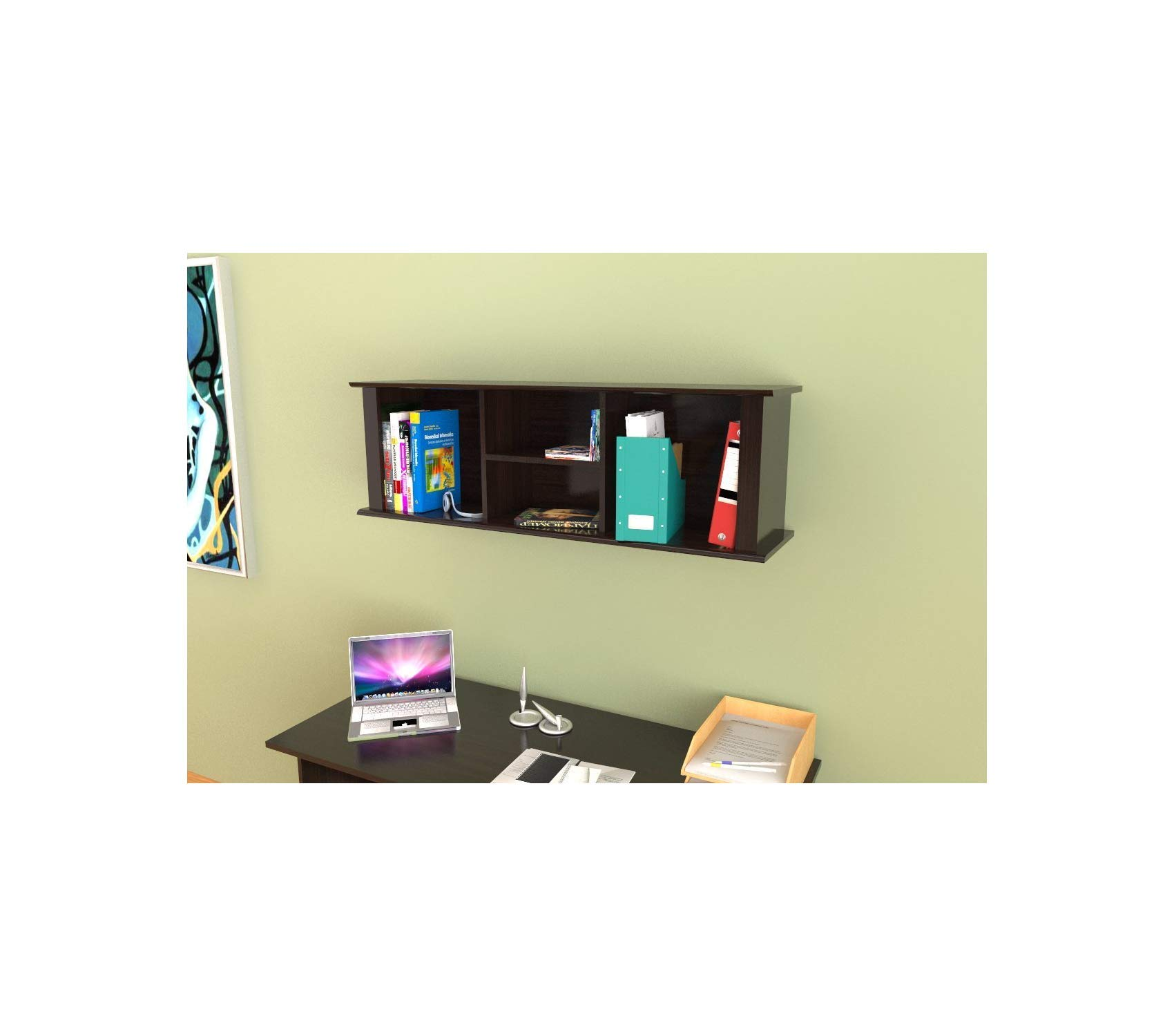 Wood & Style Office Home Furniture Premium Wall-Mounted Hutch by Wood & Style (Image #2)