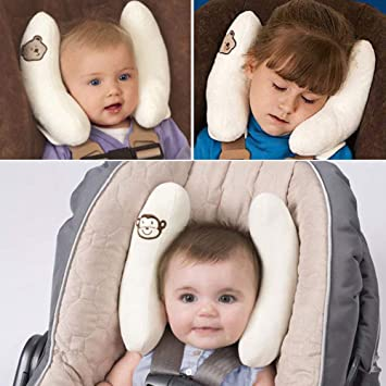 Amazon Com Adjustable Infants And Baby Neck Head Support U Shape Children Travel Pillow Cushion For Car Seat Offers Protection Safety For Kids Baby