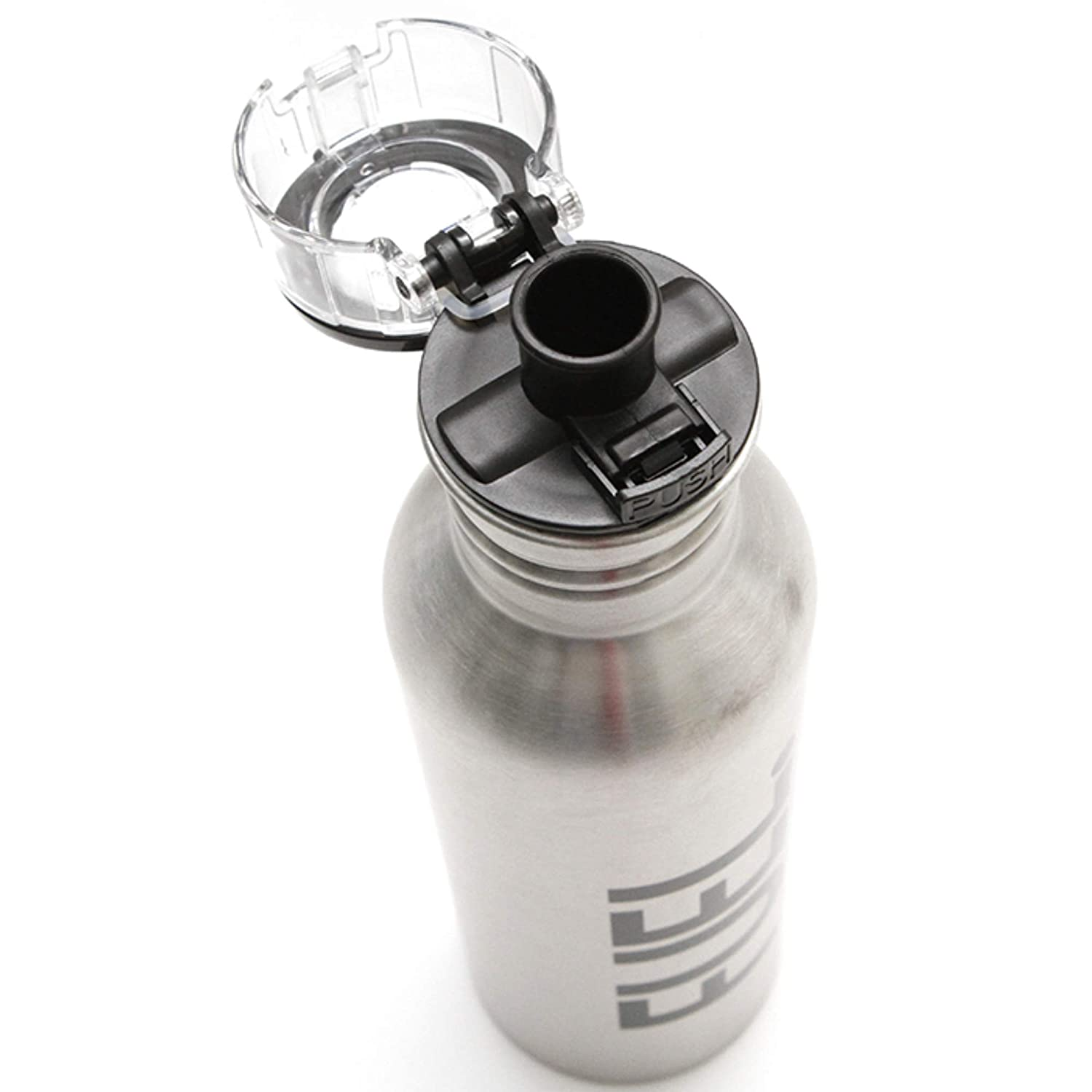 Teacher Peach Stainless Steel Water Bottle Insulated Metal Design with Removable Flip Top Cap