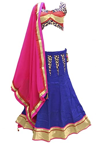 DCC2493 Blu e rosa tradizionale Chaniya Choli Indian Bollywood Lengha Choli Bust Size 34 Inches